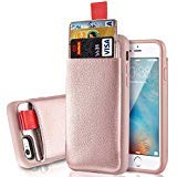 iPhone 6s Case Wallet, LAMEEKU iPhone 6 Card Holder case, Womens & Girls Leather Case with Credit Card Holder, Screen Protector Case for Apple iPhone 6/iPhone 6S 4.7inches Rosegold