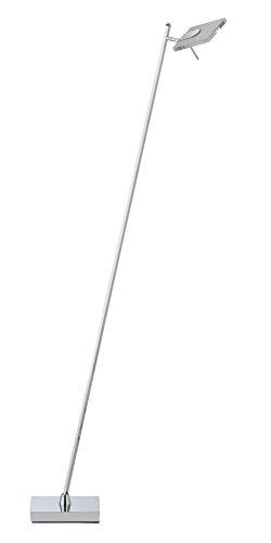 Briloner Leuchten LED Stehleuchte, 1 x 6 W, 500 lm, alu-chrom 7316-018