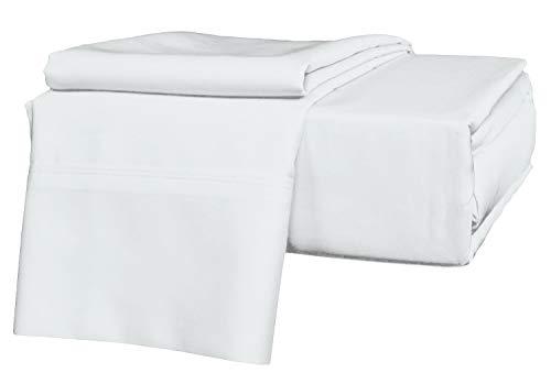 Precious Star Linen Luxus-Hotel-Bettwäsche, 100% ägyptische Baumwolle, Fadenzahl 1000, hypoallergen, für Matratzen mit Einer Tiefe von 40,6 cm bis 45,7 cm Full 54 ''x 75'' White Solid -