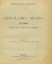 Girolamo Muzio. Lettura.