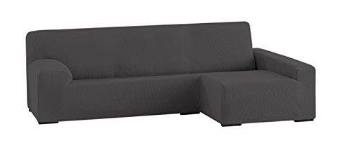 Eysa ulises copridivano elastico per divani con chaise longue a destra, grigio