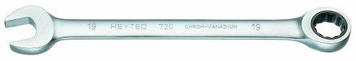 Heytec 50720019080 Clé mixte à cliquet, Argent, 19 mm