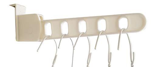 F&T Bügelhilfe - Hemdenbügel - Hemdenhalter - Kleiderbügel aufklemmbar auf Türen (27cm) - Bügelaufbewahrung - Hemdentrockner - Wäschetrockner - Türhänger -Türbügel - klappbarer Kleiderbügelhalter