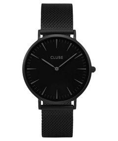 Damen-Armbanduhr-La-Bohme-Mesh-Full-Black