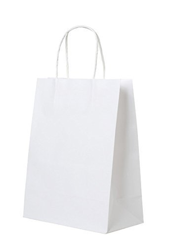 Halulu-White-Paper-Bag-Party-Bag-Shopping-Bag-Merchandise-Bag-50pc-10x5x13-kraft-Bags-with-handle