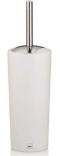 Kela 22275 WC-Bürste und Behälter, 36,5 cm Höhe, Kunststoff, Matt, WC-Garnitur, Marta, Weiß