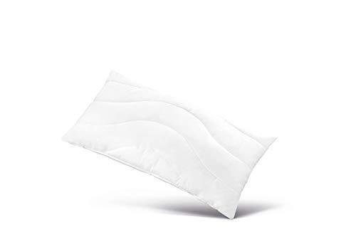 Grafenfels Classic Kopfkissen 80 x 80 cm   Faserkissen  Weiches Liegegefühl  Geeignet als Rückenschläfer-Kissen   Atmungsaktiver Baumwoll-Bezug, Pflegeleicht, schadstofffrei