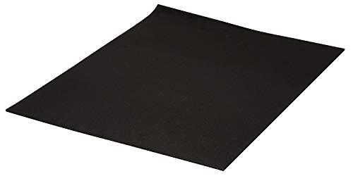 Extragroße Moosgummi-Platten, 3mm, 60 x 40 cm Schwarz -