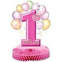 1st Birthday Girl Balloons Party centrepiece