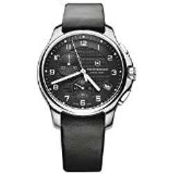 Victorinox 241552 - Reloj para hombres, correa de piel de borrego color negro