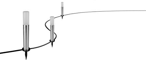 Osram Smart+ LED ZigBee Außen-/Gartenleuchte Erweiterung, Warmweiß bis tageslicht, dimmbar, Schutzklasse, P65, 3 Spots, Alexa kompatibel
