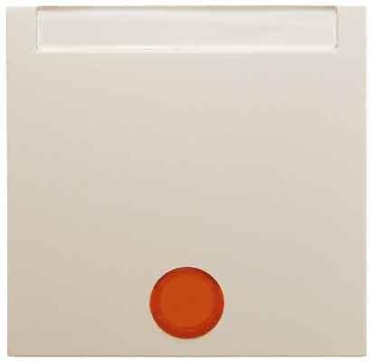 Hager S1-Taste mit Objektiv Porta Rotulo Glanz Weiß - Beleuchtung-kreuz-jalousie-objektiv