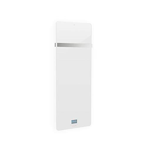 Klarstein Hot Spot Crystal IR Infrarot-Heizpanel Heizgerät • 45 x 120 cm Heizpanel für Räume bis 20 m² • IR Comfort Heat: effiziente & sparsame 850 W • Thermostat: 5-40 °C • Glasfront • weiß