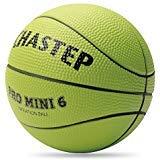 Chastep Mini ballon de basket, en mousse, 15,2cm Doux et rebondissant, non toxique, sans danger., Vert citron, 6