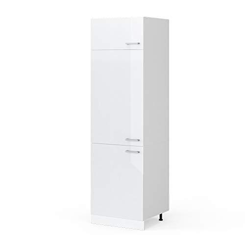 Vicco Küchenschrank Hängeschrank Unterschrank Küchenschränke Küchenunterschrank Arbeitsplatte, Möbel verfügbar in anthrazit und weiß (weiß ohne Arbeitsplatte, Kühlumbauschrank 60 cm)