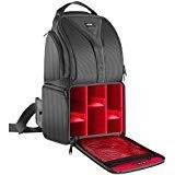 Neewer Zaino Backpack a Monospalla 24,9x20x42,9cm Impermeabile Leggero & Resistente per Fotocamere DSLR & Mirrorless (Canon Nikon Sony Pentax Olympus Fujifilm Panasonic) Rosso