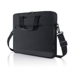 Belkin Lite Schultertasche (geeignet für Notebook bis 39,6 cm (15,6 Zoll)) schwarz