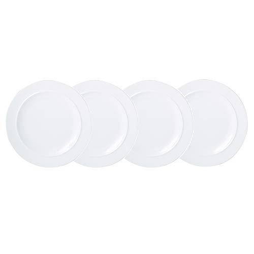 Denby WHT-003/4 White Set of 4 Dinner Plates Teller-Set, Steingut, neutral Denby White Dinner Plate