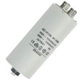 Fixapart 11040 Anlaufkondensator Betriebskondensator 40uF 40µF mit STECKER (Motorkondensator) -