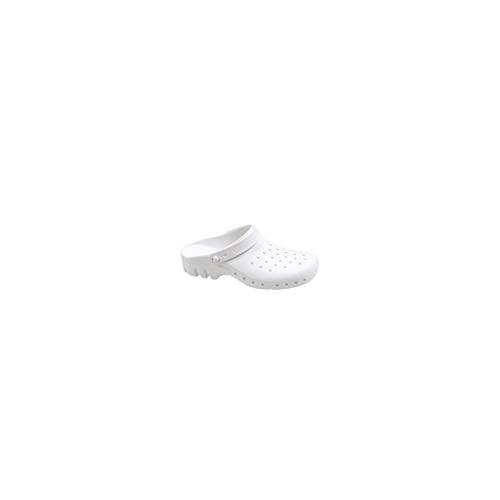 Zuecos Quirófano con tira y plantilla color blanco Nº 41/42