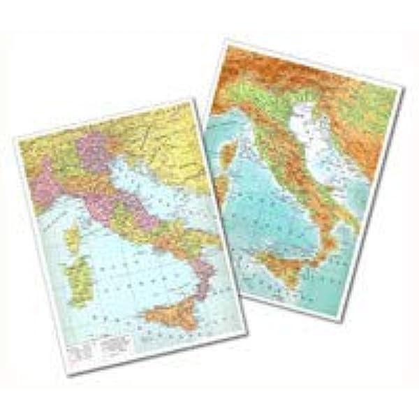 Cartina Italia Politica In Vendita.Cartina Italia Fisica Politica 30x42 Plastificata Lucida Per Uso Scolastico Amazon It Cancelleria E Prodotti Per Ufficio