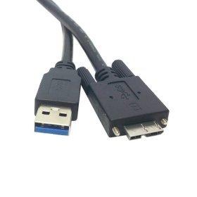 cablecc 15ft 5m USB 3.0Typ A Kabel Stecker zu Micro USB 3.0B Stecker mit Halterung Panel Schrauben für Festplatte Handy