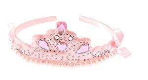 Mädchen Pink Stoff Up Party Kleid Prinzessin Tiara, ideal für Kostüme, Verkleidungen, Halloween, Prinzessin Outfit, (Tiara Kostüme Halloween Und Toddler)