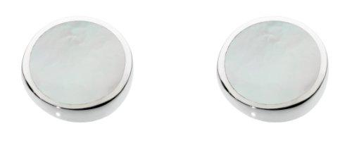 Dew Damen-Ohrringe 925 Silber Muschel Weiß - 3060MP