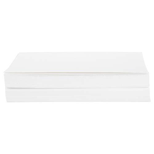HEEPDD 100Pcs Dutch White Card Kunst Postkarte Gummi Stamper Papier 15 x 10cm Blank gefaltete Karten Blank Index Flash Hinweis für Drucker (Stationären Drucker Papier)