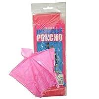 eBuyGB Unisex Adult Mac Emergency Rain Waterproof Poncho, Transparent Pink