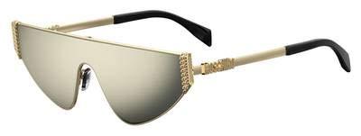 Moschino Sonnenbrillen MOS022/S Gold/Grey Gold Damenbrillen