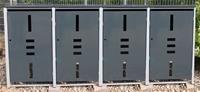 Mülltonnenbox Metall für 4 Mülltonnen mit Klappdeckel anthrazit …