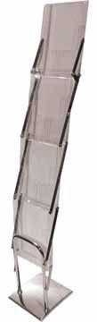 deflecto DE36200 Prospekthalter/Prospektständer aluminium