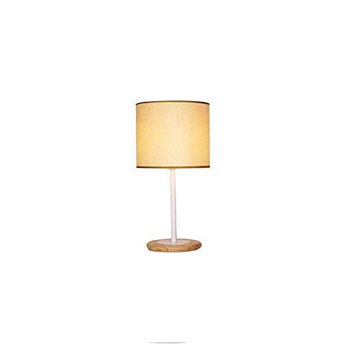 BAIF Modern-Simple-Creative Tischlampe-Mode-Wohnzimmer Schlafzimmer Nachttischlampe-Studie-Schreibtisch-dekorative Tischlampe-Holzsockel-Umwelt Scheinwerferabdeckung (Farbe: Remote 3E-LED)