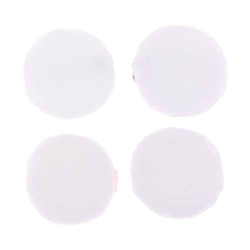 Fenteer 4pcs Bouffée De Poudre De Maquillage Floquante De Beauté Cosmétique D'applicateur Facial Doux