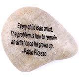 vur Inspirierende Steine Collection-Stone VII: Pablo Picasso:Jedes Kind ist Ein Künstler. Das Problem ist, Wie Ein Künstler zu Bleiben, Wenn er Wächst bis. ()
