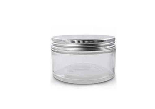 50Gramm/ML nachfüllbar Gläsern mit Liners Und Aluminium silber Deckel Milchglas creme Flasche Topf Marmeladengläser Kosmetik Comtainer für Lotion, Cremes, Toner, Lippenpflegestifte, Make-up-Samples