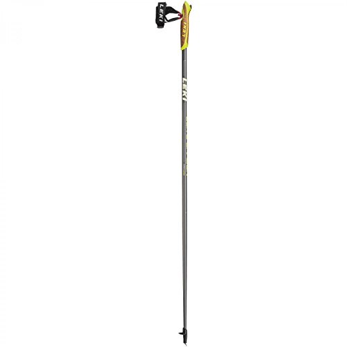 LEKI Elite Carbon Nordic-Walking-Stock (Paar), Grey, 105 cm