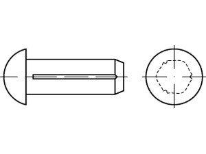 DIN 1476 Messing Halbrundkerbnägel - Abmessung: 2x8 (200 Stück)