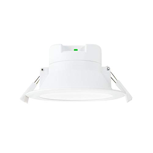 Lampara Plafon Foco de LED Empotrable de Downlight de Techo LED Regulable Luz Calida y Fria Ajustable 3000K 4000K 5000K 10W 220V-240V Agujero del Techo Φ90-105MM IP44 Lot de 1 de Enuotek