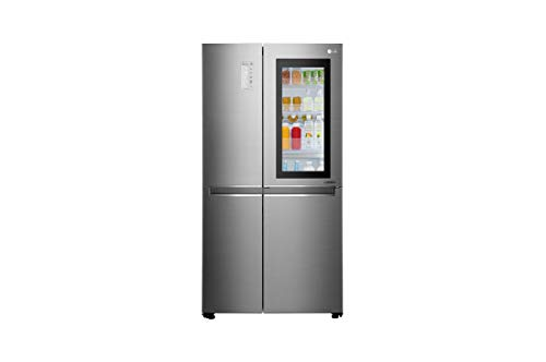 LG 687 L Inverter Frost-Free Side-by-Side Refrigerator (GC-Q247CSBV, Noble Steel)