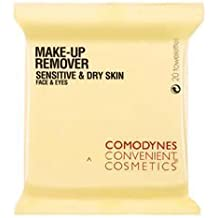 Comodynes Make Up Remover Towelettes for Sensitive & Dry Skin (20 Towelettes) by Comodynes