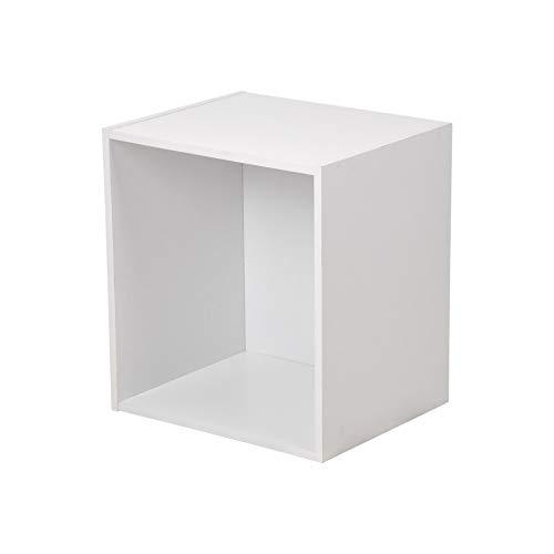 HOMEA Cube de Rangement 1 Niche, Panneaux de Particules, Blanc, 34,4x29,5x34,4 cm