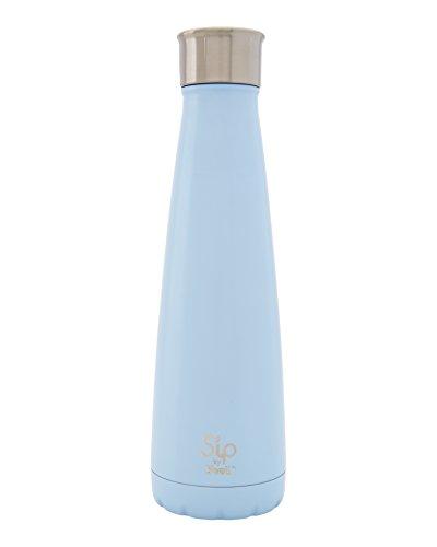 (S 'ip von S 'well Isolierte doppelwandige Edelstahl Wasser Flasche, 15Oz, Marshmallow weiß, Cotton Candy Blue, 425 g)