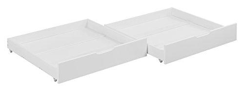 2 Schubladen-set Etagenbett (Lilokids Schubladen Set von 2 - für Etagenbett JELLE - weiß -)