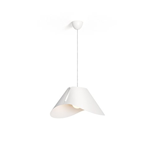 Philips Lighting White Suspension Light Smart Volume Ecru Lampada Sospensione Lampadario Design Moderno E27, Nero, 57 x 46 x 186 cm