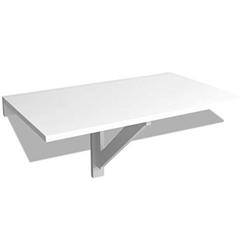 vidaXL Mesa Plegable Pared Blanca Dimensiones Abierta 100x60 cm Carga 120 Kg
