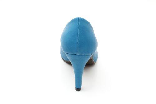 Andres Machado.AM422.Escarpins . Forme et talon classiques de 9 cm. Pointe de pied arrondie. Pour toutes les pointures de la 32 à la 45.… Softbleu