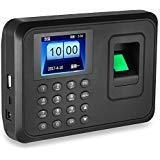 LIBO Máquina de Asistencia Biométrica de Huellas Dactilares Huella dactilar Hora Reloj Sistema, 2.4 pulgadas Pantalla, Soporte USB Record, 600 Capacidad de usuario