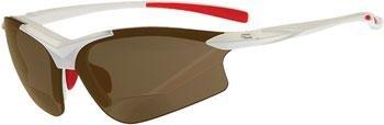 Dual Power Eyewear G5 Weiß With Brown Lens 2.50 Lesebrille